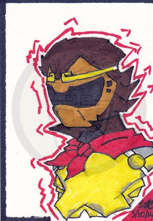 MonkeyRanger Sketch Card by otamachamp
