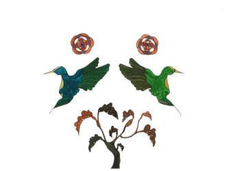 Humming birds 2 by MIYUKITANABE