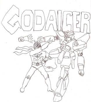 Crossover Hero Godaiger by Godaiger
