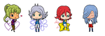 Comissions Inazuma Chibis by L-mon