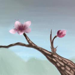 Practice: A flower (Peach).  (13 November 2018) by khaospedia