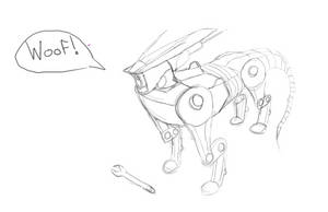Robot dog sketch by BROFISTICUSMAXIMUS