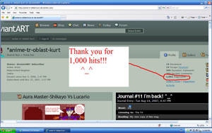 My First 1000 Hits - Pageviews by TR-Kurt