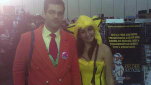 Me (Giovanni) and Jolteon girl cosplayer by TR-Kurt