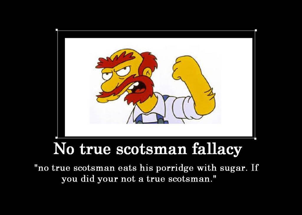 no true scotsman fallacy example