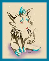 Shiny Zorua by hinarin