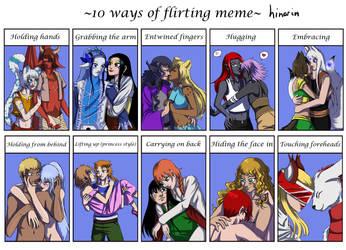 10 ways of flirting meme - hinarin by hinarin