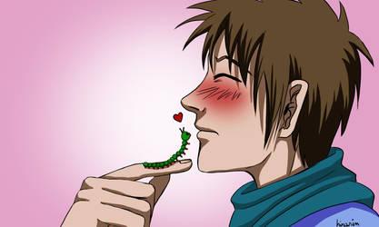 Caterpillar valentine by hinarin