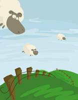 Des moutons dans le ciel by Tisseur-de-reves