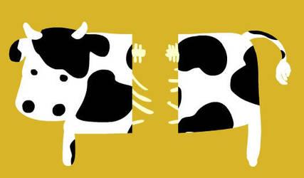 Demie Vache by Tisseur-de-reves