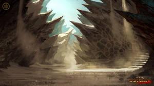 Dragon's Spine Village Entrance by Benef
