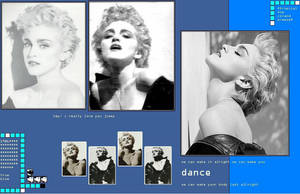 Madonna Yes Another True Blue by scrawnyfella