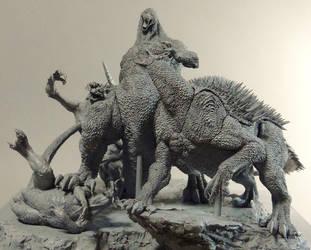GODZILLA vs VARAN BARAGON ANGUIRUS unmade GMK by Masazumi-Matsumoto