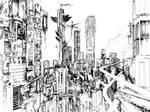 city sketch by 08--n7R6-7984