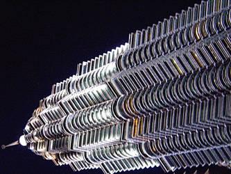 Petronas Twin Tower - Art 1 by Talk3talk4