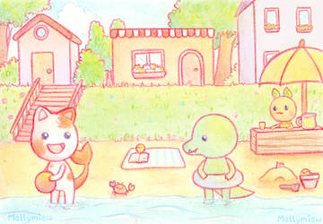 ACEO Card No 87 and 88 by Mellymiew