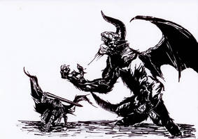 Berserk Guts Vs Zodd by Marvinhet