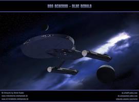 STAR TREK - AXANAR: USS ACHERON - BLUE NEBULA by ulimann644