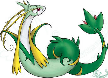 Milotic+Serperior fusion by Taez