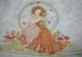 Earth Goddess Cross Stitch by Tishounette