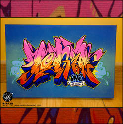 Mini Canvas Graffiti by Nerkin