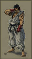 Ryu Fan Art by Nerkin