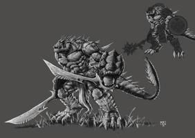 Lizardman by Nerkin