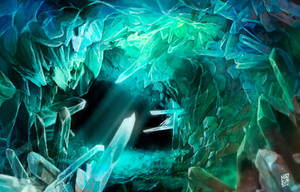 Crystal cave by Nerkin