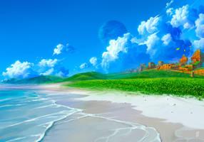 Coast of Emerald Hill by Nerkin