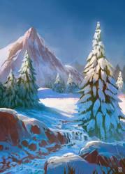 Snowy landscape by Nerkin