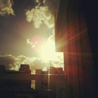 sunset from my balcony by haruwen