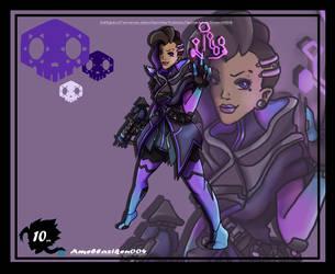 Sombra Overwatch by Ameblaziken004