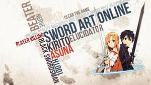 Sword Art Online  -VRMMORPG Wallpaper by AstroCloudd