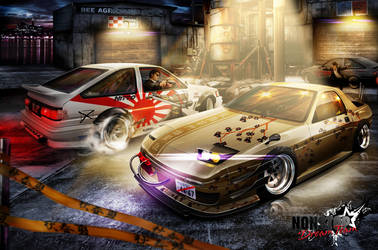 rx-7 and ae86 by LocoAtomo