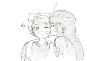 Finn and Bubblegum by tunacut