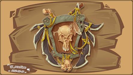 Bonehead Shield by Dillerkind