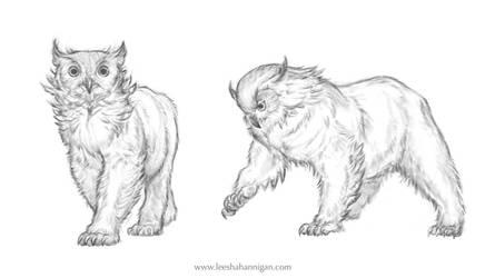Owlbears by LeeshaHannigan