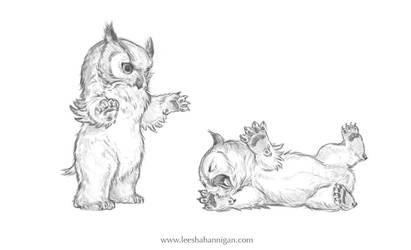 Owlbear Cublets by LeeshaHannigan
