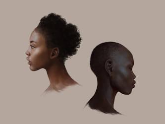 Skin tone studies by LeeshaHannigan