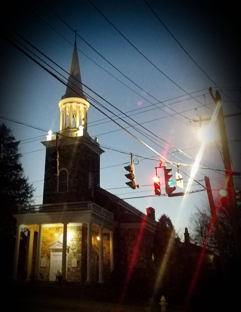 Church in Ridgefield by GUDRUN355