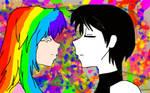 rainbow and dark by KiyaSparleVampire