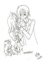 Sebastian LOVES cats~ by KiyaSparleVampire