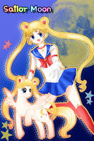 Sailor Moon and pony by allwellll