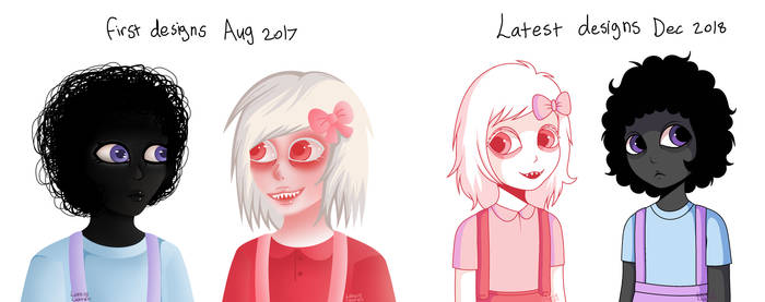 Isabella and Beatrice (before and after) by LovelyLaurenArts