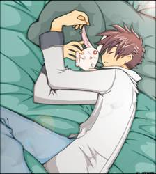 ShaoMoko-chan Sleeping by Mangame-Art