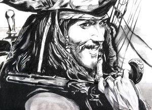 Captain Jack by gazal-cherry by PortraitPencilArt