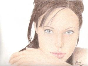 Angelia Jolie by BeachBum190 by PortraitPencilArt