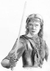 Warrior Girl by SvenjaLiv by PortraitPencilArt