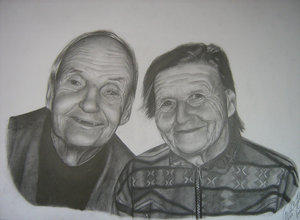 Old people by mfs1 by PortraitPencilArt