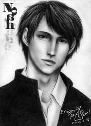 Noah-kun by enigmaraziel by PortraitPencilArt